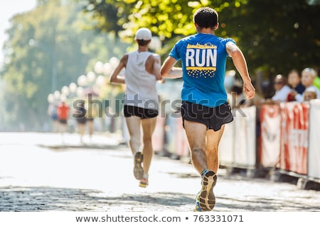 Marathon lopers stad lopen lopen mensen Stockfoto © blasbike