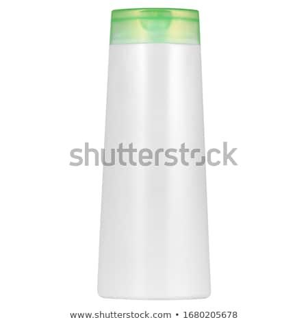 Zielone szampon butelki cap odizolowany Zdjęcia stock © homydesign