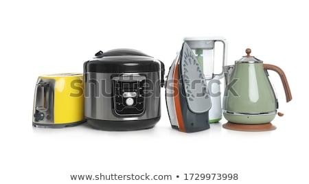 белый · чайник · изолированный · фон · кухне - Сток-фото © ozaiachin