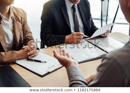 Foto stock: Gerente · feminino · candidato · escritório · negócio · trabalhar