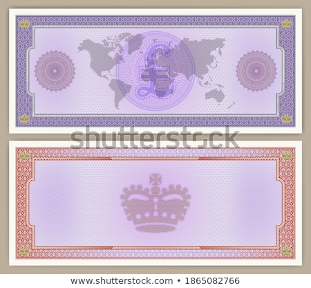 Crown sign on paper texture. Vector, EPS10 Stock photo © pashabo