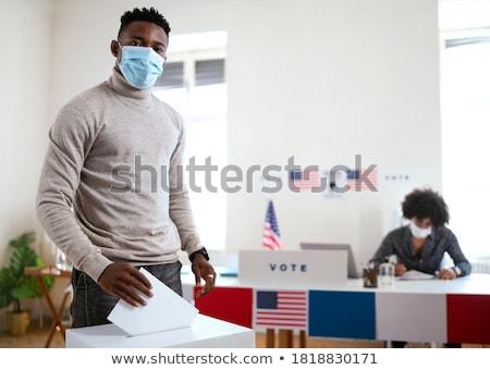 Voting man Stock photo © artisticco