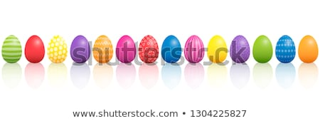 Line of vibrant shiny Easter Eggs Stock photo © Farina6000