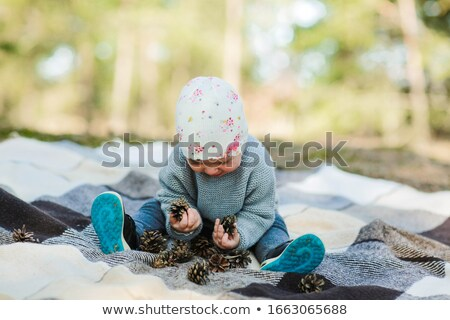 Girl with conifer cones Stock photo © Talanis