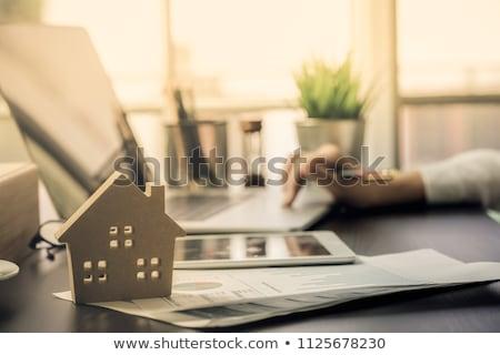 planos · chave · velho · escritório · papel · casa - foto stock © lightsource