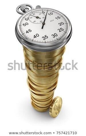 Soldi cronometro tempo finanziare velocità banca Foto d'archivio © gladiolus