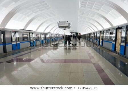 地下鉄 ロビー 壁 抽象的な 背景 都市 ストックフォト © Paha_L