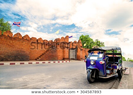 Thai temple gate in Chiang Mai Stock photo © bbbar