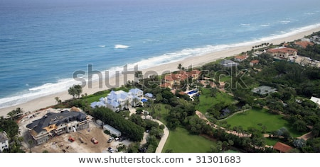 Beachfront property aerial. Stock photo © iofoto