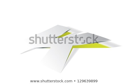 Paper folding with letter K in perspective view Stock photo © archymeder
