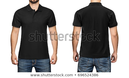 Young man with blank black polo shirt Stock photo © sumners