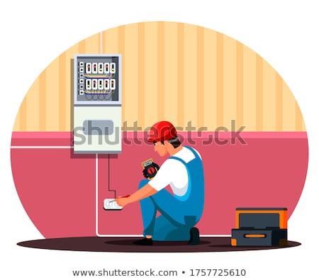 Manitas electricidad electricista enfoque Foto stock © Lighthunter