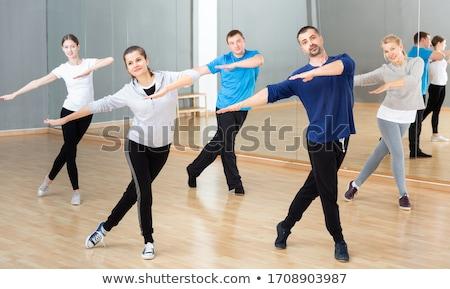 Homem estúdio dança espanhol dançar vermelho Foto stock © Elnur
