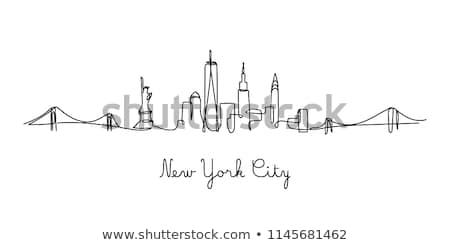 Nova Iorque ícone vetor ilustração Foto stock © Myvector