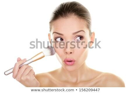 Stockfoto: Make · schoonheid · vrouw · naar · grappig