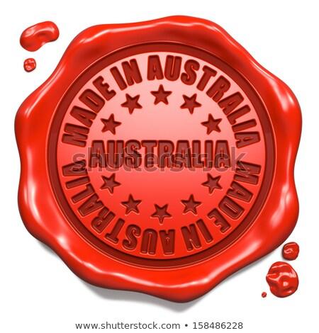 Stok fotoğraf: Avustralya · damga · kırmızı · balmumu · mühürlemek · yalıtılmış