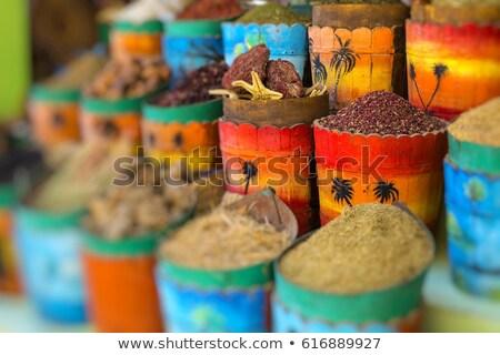 Especias mercado Cairo Egipto alimentos especias Foto stock © travelphotography