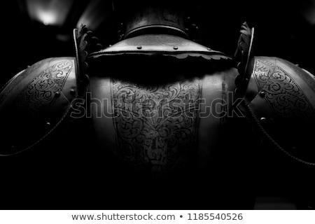 Detalle caballero armadura espada castillo acero Foto stock © w20er