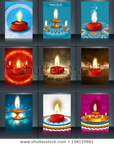 vector brochure diwali colorful celebration reflection template stock photo © bharat