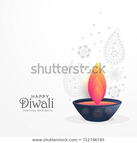 Vektor kreatív diwali boldog absztrakt olaj Stock fotó © bharat