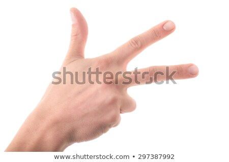 letter ch in sign language white background stock photo © pxhidalgo