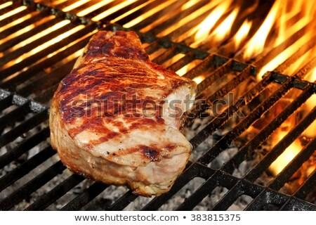 Egy disznóhús kotlett BBQ főzés Stock fotó © raphotos