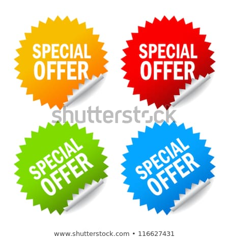 special offer in red star banner stock photo © marinini