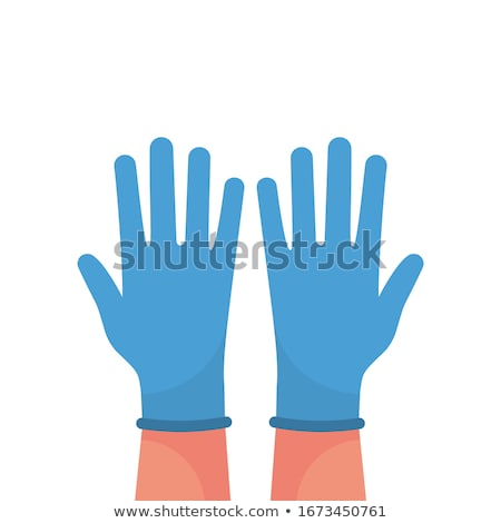 Woman putting on rubber gloves Stock photo © photography33