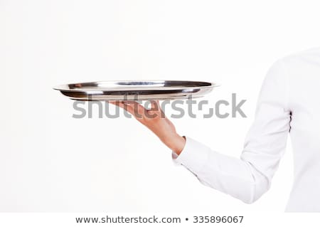 man and woman holding hands over dinner stock photo © andreypopov