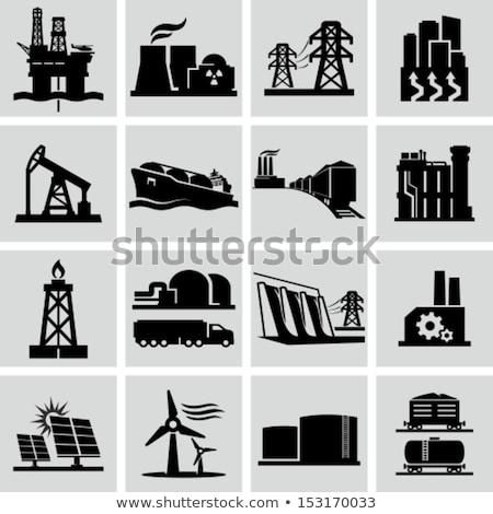 ストックフォト: ガス · ストレージ · 施設 · 風 · エネルギー · 空