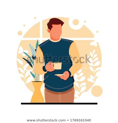 man drinking tea Stock photo © zastavkin