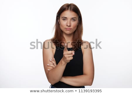 Serious woman pointing Stock photo © ichiosea