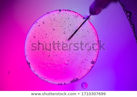 Stock photo: DNA molecules, atom, Laboratory glassware