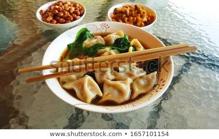 Chinees eten rundvlees salade lotus wortel Rood Stockfoto © bbbar