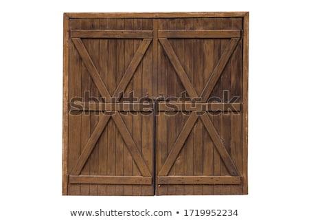 old wood door detail stock photo © tagore75