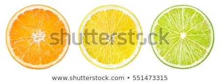 Limon narenciye dilim yalıtılmış beyaz Stok fotoğraf © natika
