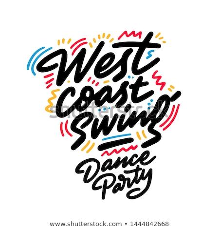 ovest · costa · swing · sociale · dance · dimostrazione - foto d'archivio © blanaru