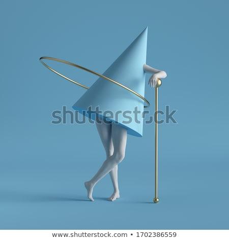 illusie · etalagepop · zeker · manier · omhoog · hoog - stockfoto © eyeidea