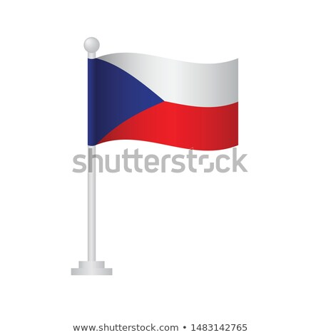 Chad Small Flag on a Map Background. Stock photo © tashatuvango
