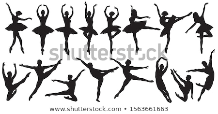 ストックフォト: バレエ · シルエット · ダンス · 芸術 · 少年 · 女性