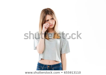 Attractive caucasian girl in studio Stock photo © bmonteny
