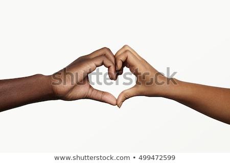 people in love shot in studio Stock photo © bmonteny