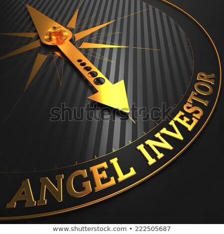 Business Angel - Golden Compass Needle. Stock photo © tashatuvango