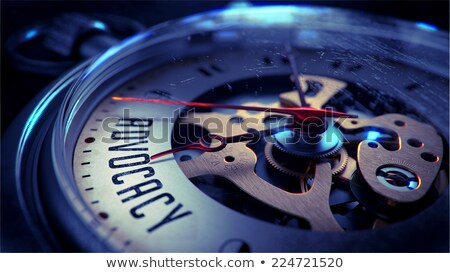 Advocacy on Pocket Watch Face. Stock photo © tashatuvango