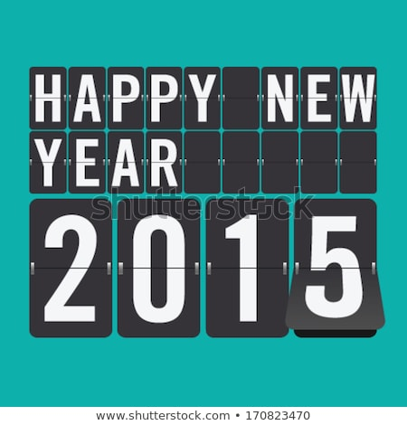 happy new year 2015 on flip clock stock photo © jossdiim