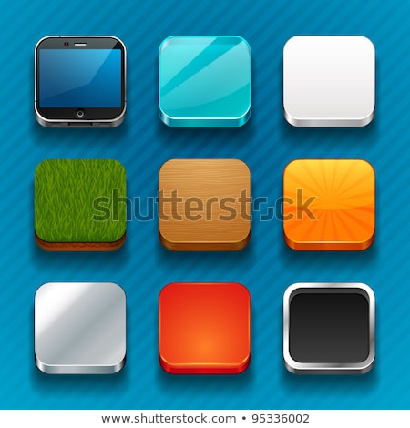電話 アイコン ガラス ボタン セット ベクトル ストックフォト © aliaksandra