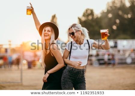 girl with beer Stock photo © adrenalina
