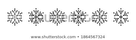 Pixeles hópelyhek karácsony fehér ikonok fekete Stock fotó © RedKoala