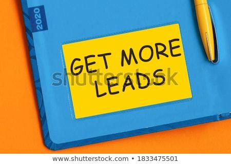 Woord geschreven Blackboard business werk teken Stockfoto © alexmillos