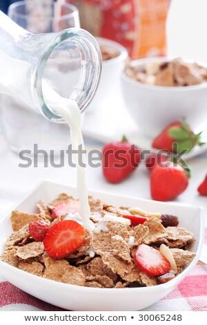 健康 朝食 ふすま イチゴ ストックフォト © raphotos